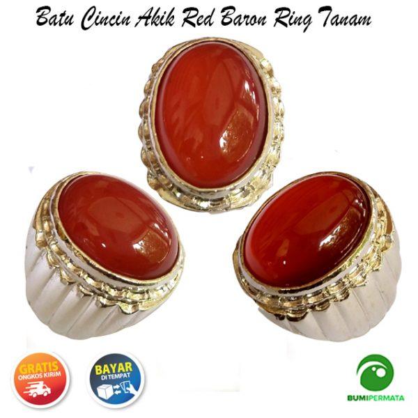 Batu Cincin Akik Red Baron Tomato Ring Tanam Istimewa 1