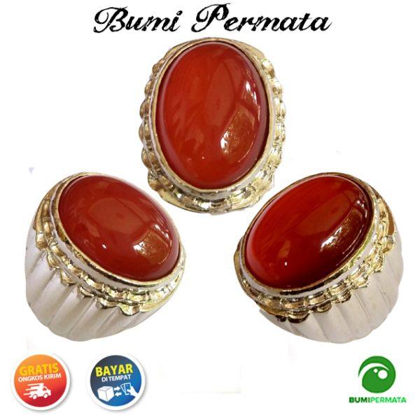 Batu Cincin Akik Red Baron Tomato Ring Tanam Istimewa 2