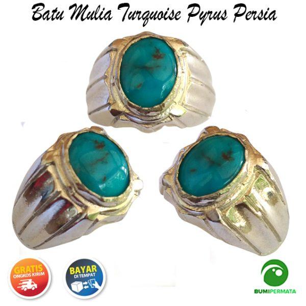 Batu Mulia Cincin Akik Turquoise Pyrus Persia Natural 1