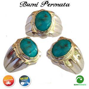 Batu Mulia Cincin Akik Turquoise Pyrus Persia Natural 2
