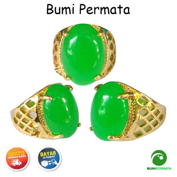 Bumi Permata Cincin Batu Akik Giok Hijau Green Jade Termurah 1