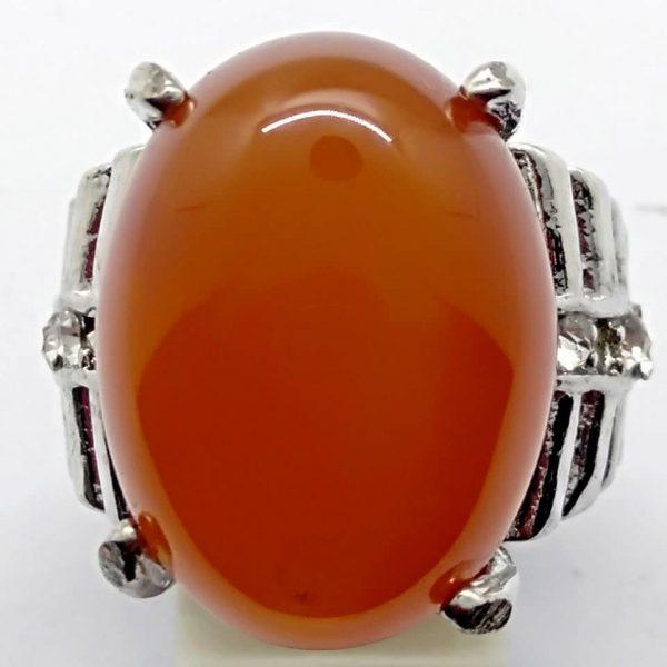 Cincin Batu Akik Slenggor Merah Ati RS525