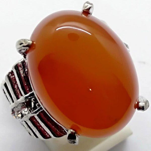 Cincin Batu Akik Slenggor Merah Ati RS525 2