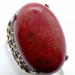 Cincin Batu Akik Sungai Merah RS506 3