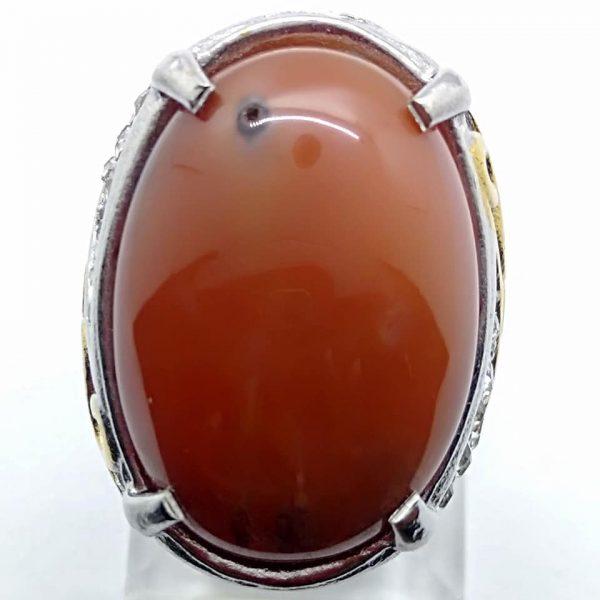 Cincin Batu Akik Sunggar Merah RS516
