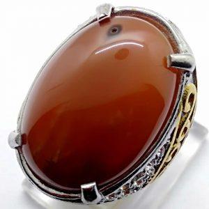 Cincin Batu Akik Sunggar Merah RS516 2