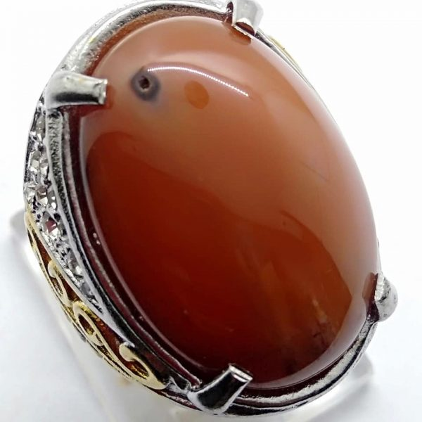Cincin Batu Akik Sunggar Merah RS516 3