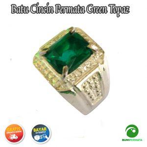 Cincin Batu Permata Green Topaz Catam 1