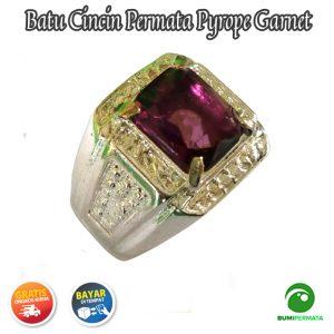 Cincin Batu Permata Pyrope Garnet Catam 1