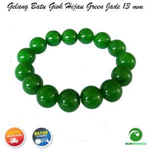 Gelang Giok Warna Hijau Green Jade 13 Mm 1