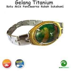 Gelang Titanium Batu Akik Pancawarna Rubah Sukabumi 1