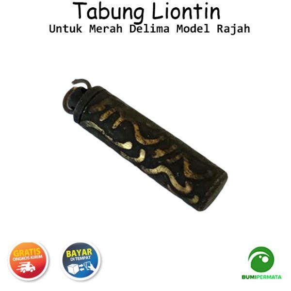Liontin Tabung Untuk Merah Delima Model Rajah 1