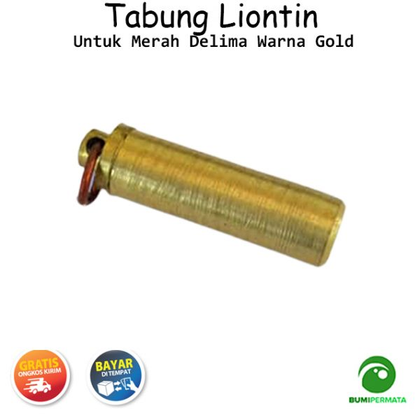 Liontin Tabung Untuk Merah Delima Warna Gold 2