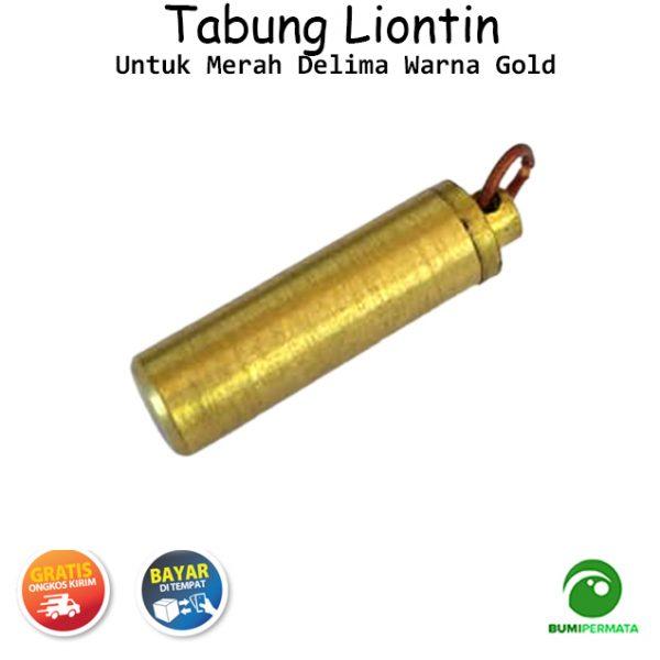 Liontin Tabung Untuk Merah Delima Warna Gold 3