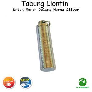 Liontin Tabung Untuk Merah Delima Warna Silver