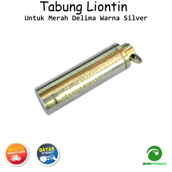 Liontin Tabung Untuk Merah Delima Warna Silver 3