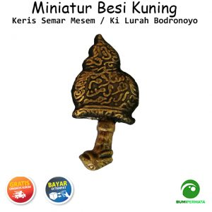 Miniatur Kuningan Model Wayang Bodronoyo Tebal 1