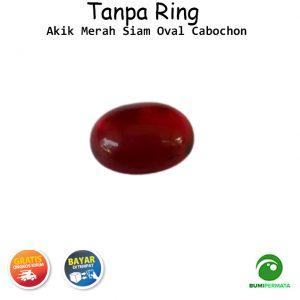 Batu Akik Merah Siam Oval Cabochon 1