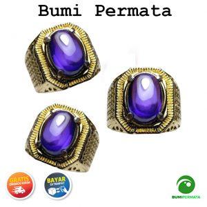 Batu Cincin Akik Purple Amethyst Cabochon Kecubung Diamond 1