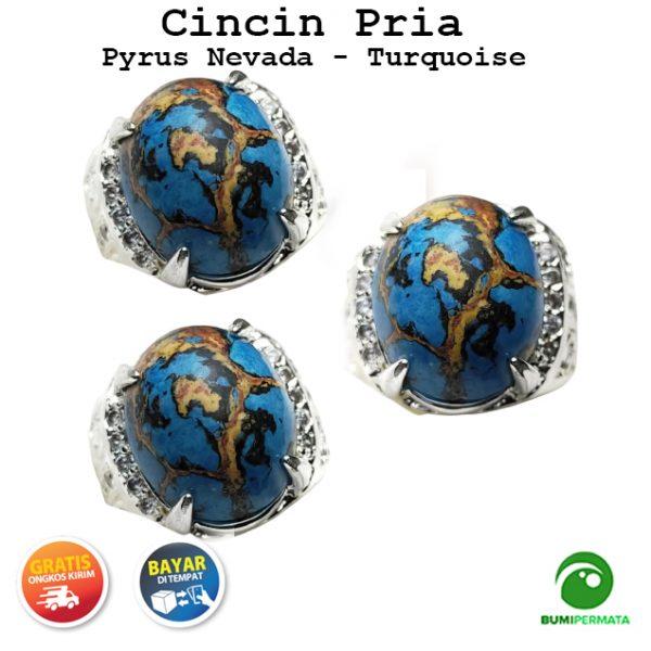 Batu Cincin Akik Pyrus Nevada Paling Murah – Natural Turquoise