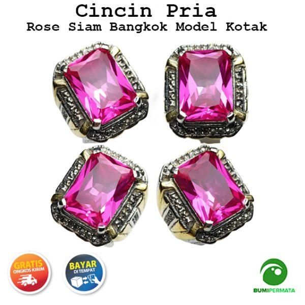 Batu Cincin Akik Rose Siam Bangkok Super Istimewa Model Kotak