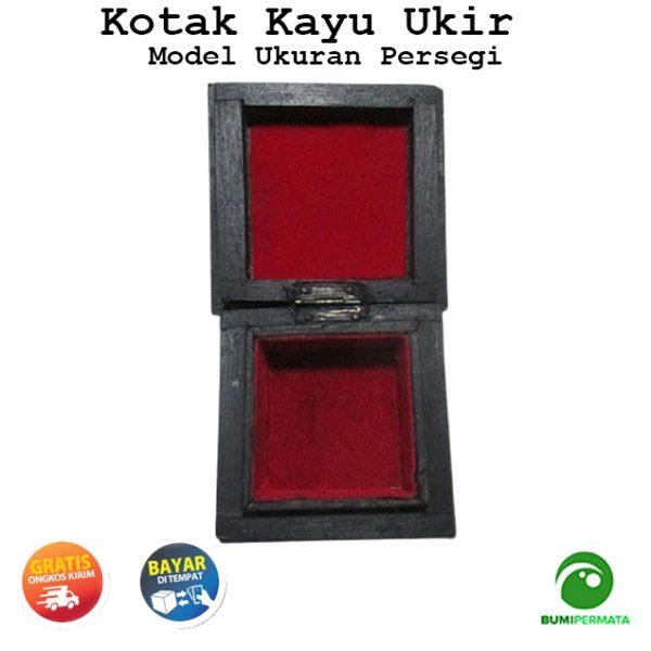 Kotak Kayu Ukir Model Segi Empat
