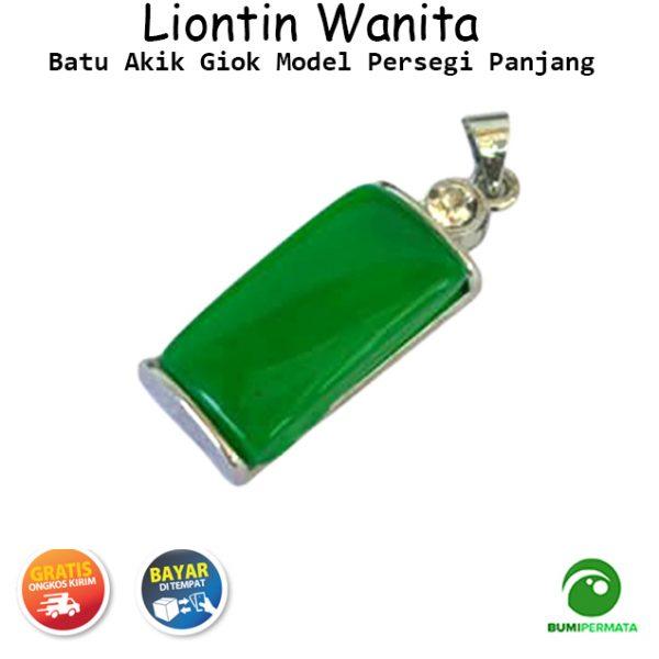 Liontin Giok Model Persegi Panjang 1
