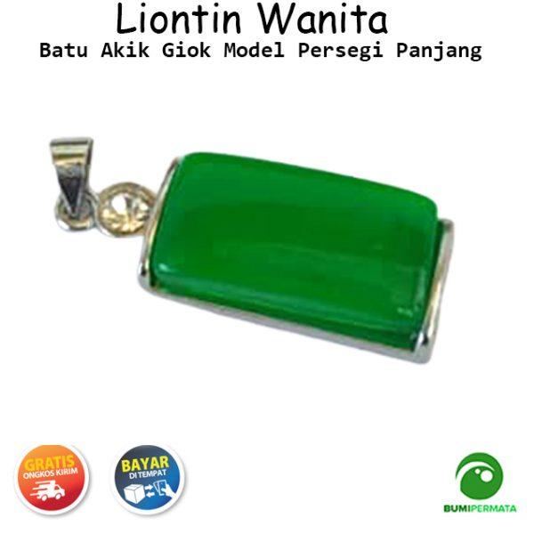 Liontin Giok Model Persegi Panjang 2