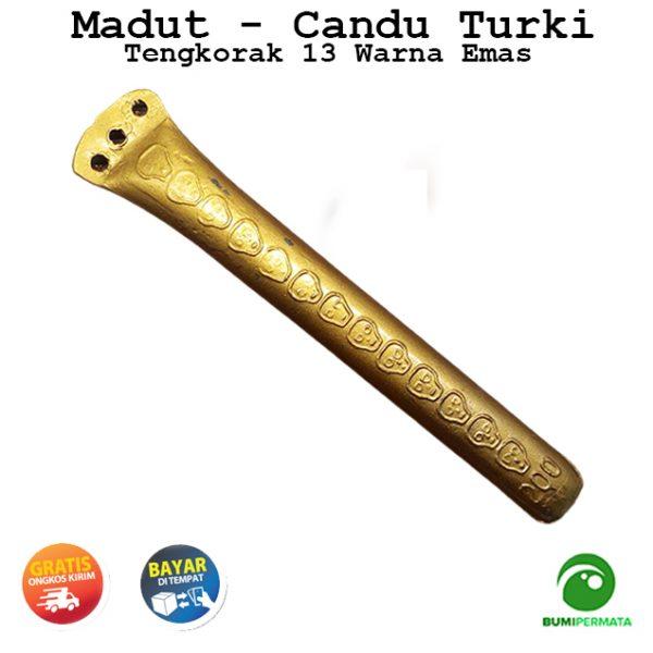 Madat Candu Turki Tengkorak 13 Warna Kuning Emas