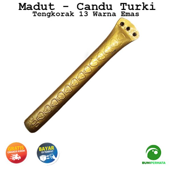 Madat Candu Turki Tengkorak 13 Warna Kuning Emas 2