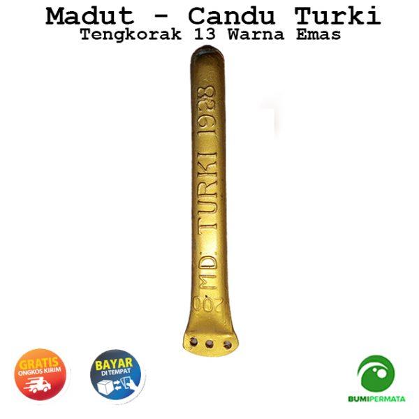 Madat Candu Turki Tengkorak 13 Warna Kuning Emas 3