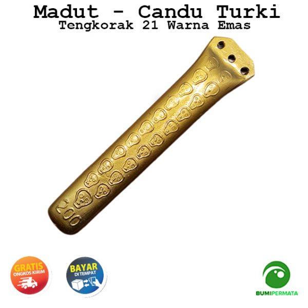 Madat Candu Turki Tengkorak 21 Warna Kuning Emas 2