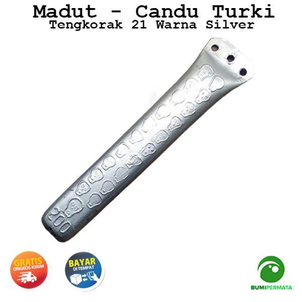 Madat Candu Turki Tengkorak 21 Warna Silver