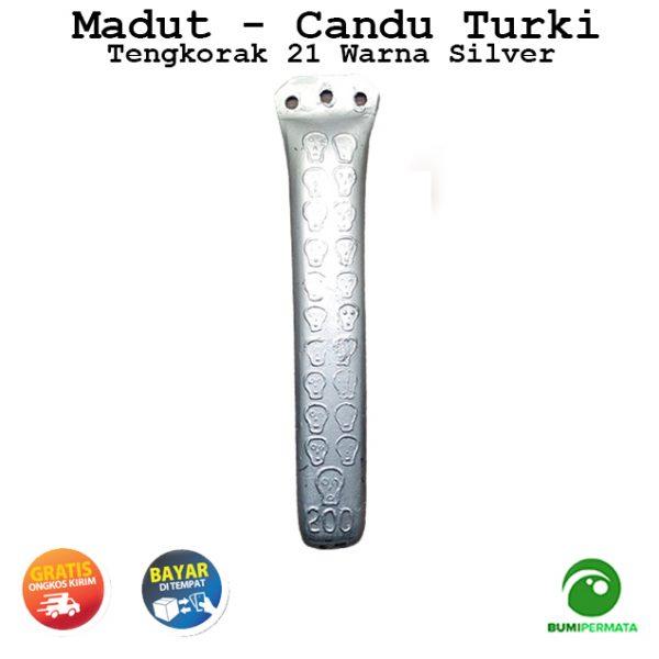 Madat Candu Turki Tengkorak 21 Warna Silver 2