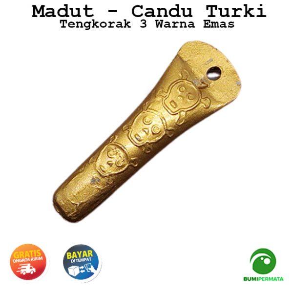 Madat Candu Turki Tengkorak 3 Warna Kuning Emas