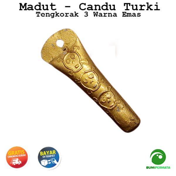 Madat Candu Turki Tengkorak 3 Warna Kuning Emas 3