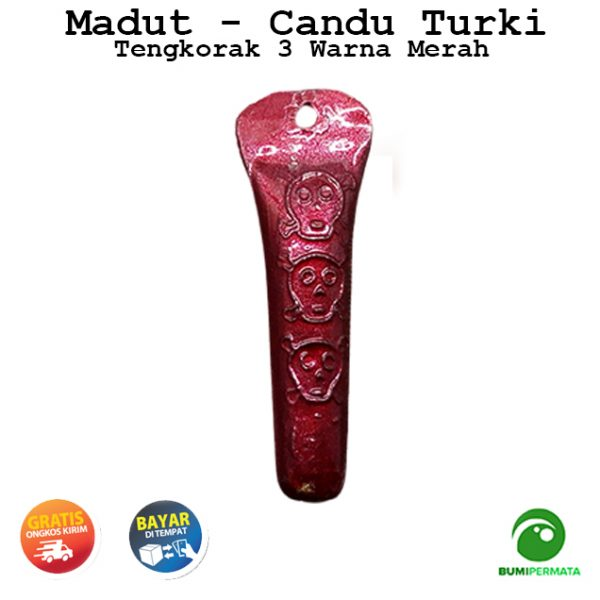 Madat Candu Turki Tengkorak 3 Warna Merah 1