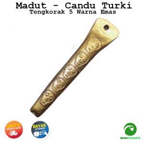 Madat Candu Turki Tengkorak 5 Warna Kuning Emas