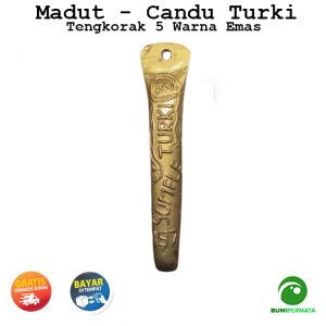 Madat Candu Turki Tengkorak 5 Warna Kuning Emas 1