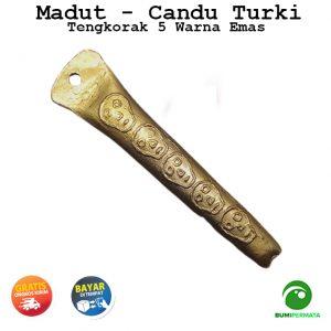 Madat Candu Turki Tengkorak 5 Warna Kuning Emas 3