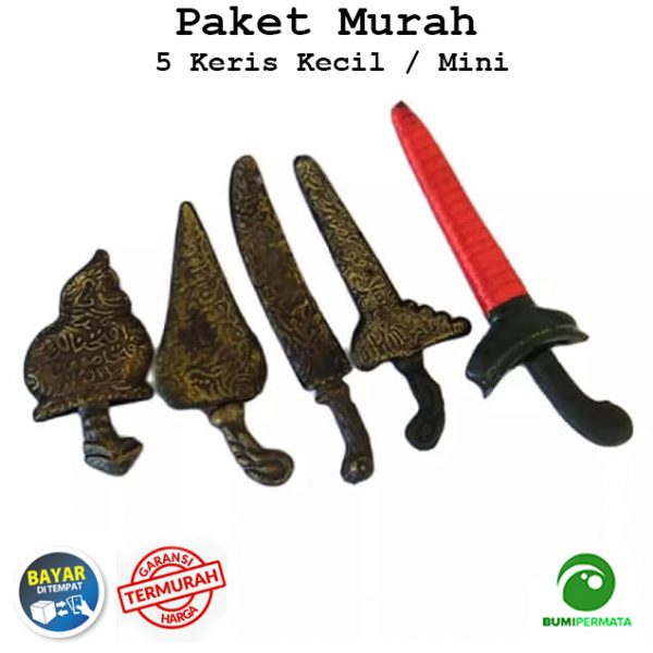 Paket Murah 5 Pcs Souvenir Miniatur Unik Antik