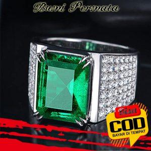 Batu Cincin Akik Green Zamrud Biron Kotak Full Cutting 1