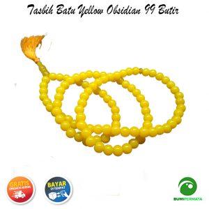 Tasbih Yellow Obsidian 99 Butir 1