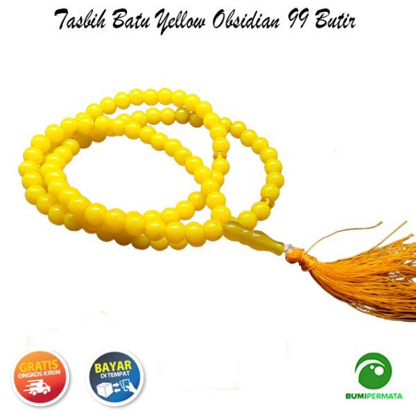 Tasbih Yellow Obsidian 99 Butir